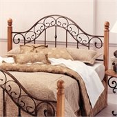Hillsdale San Marco Metal Headboard in Copper Finish
