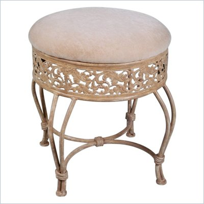 Hillsdale Villa III Vanity Stool in Antique Beige Finish