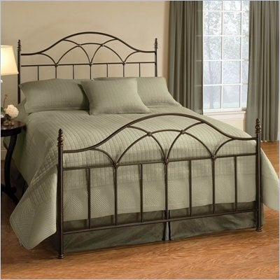Hillsdale Aria Metal Panel Bed in Brown Rust Finish