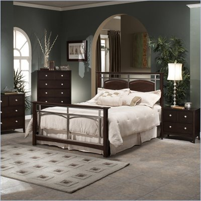 Hillsdale Banyan Espresso Wood and Metal 2 Piece Bedroom Set