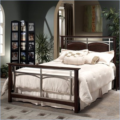Hillsdale Banyan 4 Piece Bedroom Set in Nickel Finish