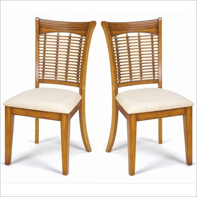Hillsdale Bayberry Fabric Dining Side Chair in Oak Finish (Set of 2)