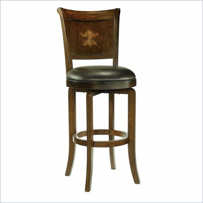 Hillsdale Bradford 30.5 Inch Brown Cherry Swivel Bar Stool