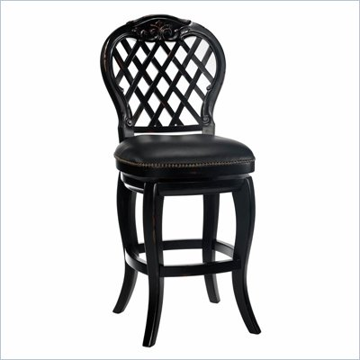 Hillsdale Braxton 26 Inch Leather Wood Counter Stool
