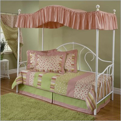 Hillsdale Bristol Girls Canopy Metal Daybed in White Finish