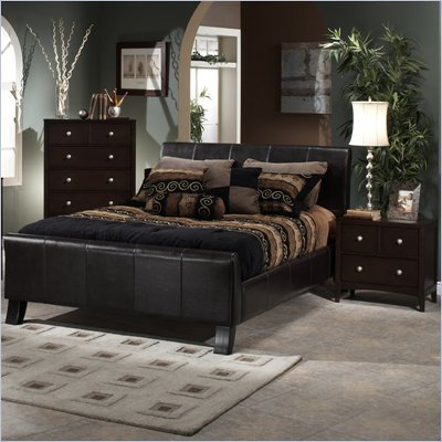 Hillsdale Brookland Leather Bed 2 Piece Bedroom Set