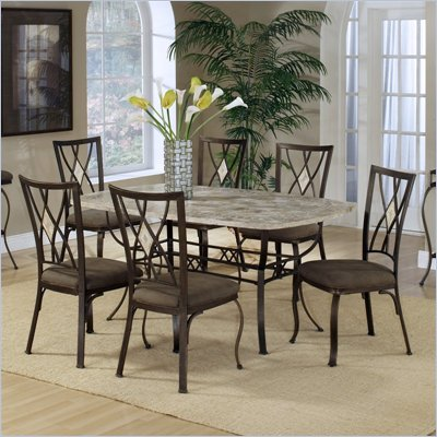 Hillsdale Brookside 5 Piece Rectangular Dining Table Set with Diamond Back Chairs