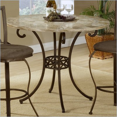 Hillsdale Brookside Counter Height Dining Table in Brown Finish