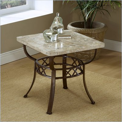 Hillsdale Brookside Stone Top End Table