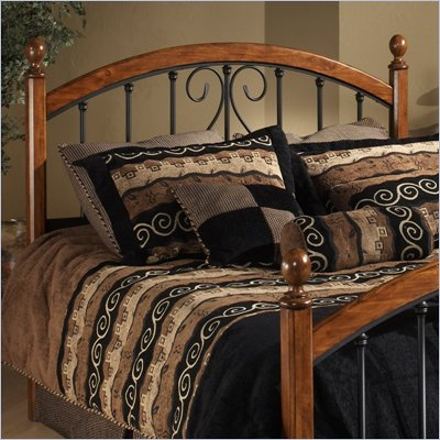 Hillsdale Burton Way Metal Headboard in Cherry and Black