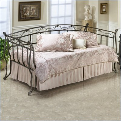 Hillsdale Camelot Metal Daybed in Black Gold Finish  with Pop-Up Trundle