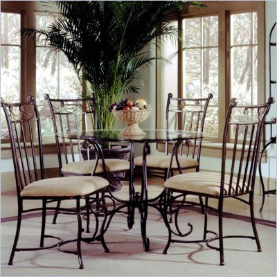 Hillsdale Camelot 5 Piece Round Dining Table Set
