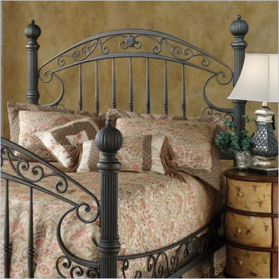 Hillsdale Chesapeake Metal Headboard in Antique Black Gold Finish