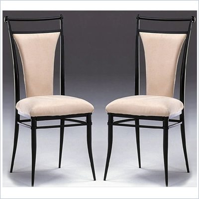 Hillsdale Cierra Fabric Dining Side Chair in Black Finish (Set of 2)