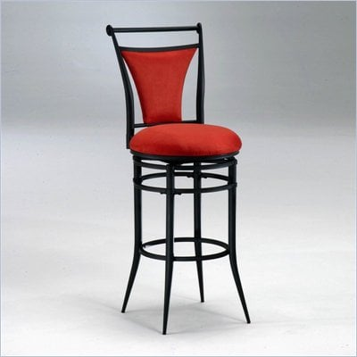 Hillsdale Cierra 30 Inch Swivel Bar Stool in Red and Black