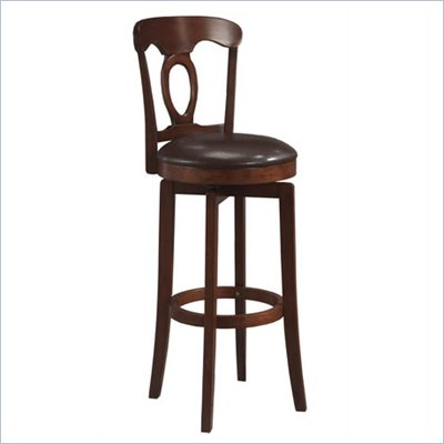 Hillsdale Corsica Brown Swivel Counter Stool with Vinyl Seat