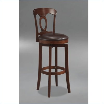 Hillsdale Corsica Brown Swivel Bar Stool with Vinyl Seat