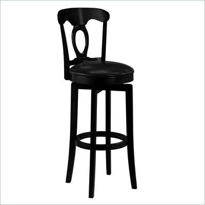 Hillsdale Corsica Black Swivel Counter Stool with Vinyl Seat