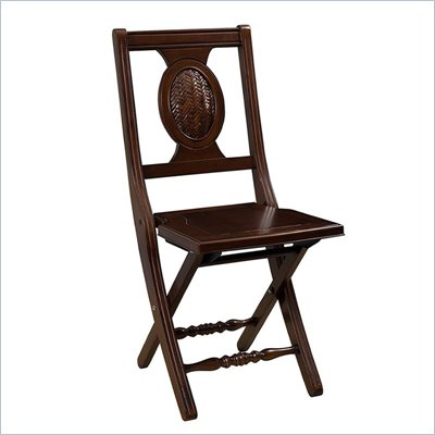 Hillsdale Cumberland Folding Chair in Mahogany Finish