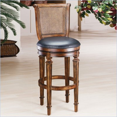 Hillsdale Dalton 24 Inch Counter Height Cane Back Swivel Bar Stool