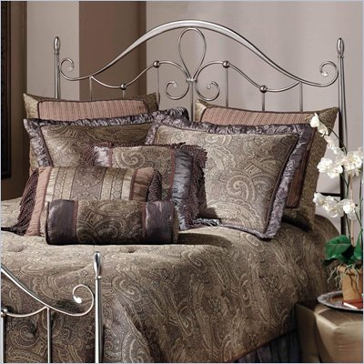 Hillsdale Doheny Metal Headboard in Antique Pewter
