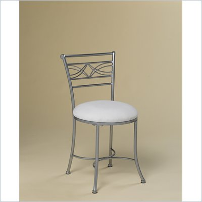 Hillsdale Dutton Vanity Stool in Chrome Look Powder Coat