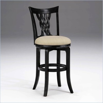 Hillsdale Embassy 30&quot; Swivel Bar Stool in Rubbed Black