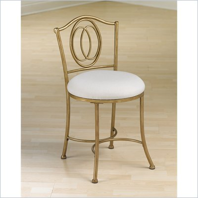 Hillsdale Emerson Vanity Stool in Golden Bronze