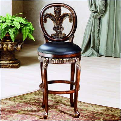 "Hillsdale Fleur De Lis 31"" Swivel Bar Stool in Island Vanity"