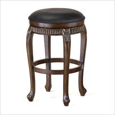 Hillsdale Fleur De Lis 24 Inch Swivel Counter Height Bar Stool