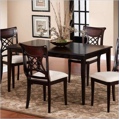 Hillsdale Glenmary Formal Dining Table in Distressed Dark Cherry Finish