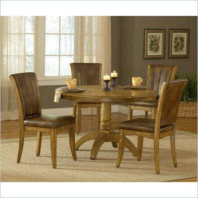 Hillsdale Grand Bay 5 Piece Round Dining Set in Medium Oak