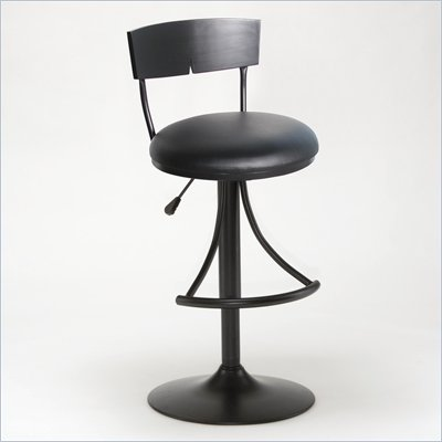 Hillsdale Halley Black Adjustable Barstool
