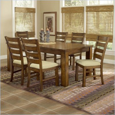 Hillsdale Hemstead 7 Piece Dining Table Set in Dark Oak