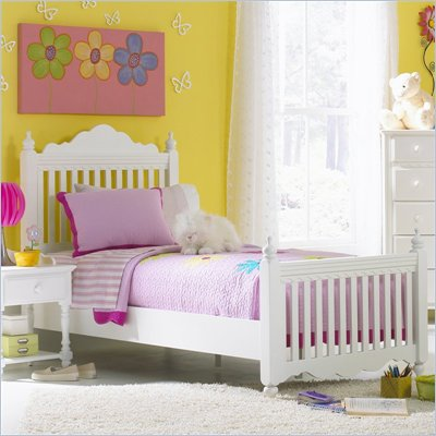 Hillsdale Lauren Poster Bed in Pure White Finish