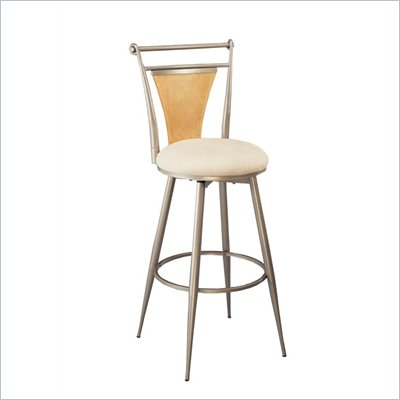 Hillsdale London 24&quot; Swivel Metal Counter Stool in Champagne