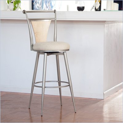 Hillsdale London 30&quot; Swivel Metal Bar Stool in Champagne