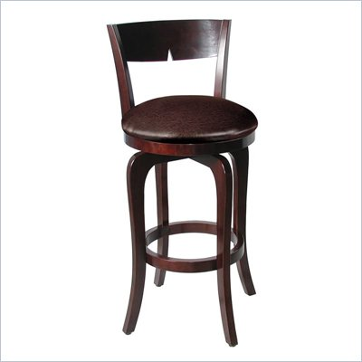Hillsdale Luna Merlot Swivel Wood Counter Stool