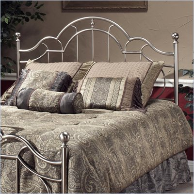 Hillsdale Mableton Metal Headboard in Brushed Silver