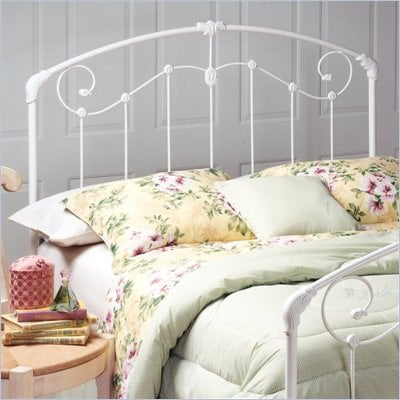 Hillsdale Maddie Metal Headboard in White Finish