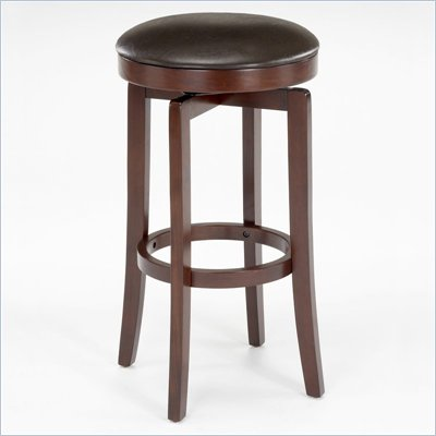 Hillsdale Malone 31&quot; Backless Swivel Bar Stool in Cherry