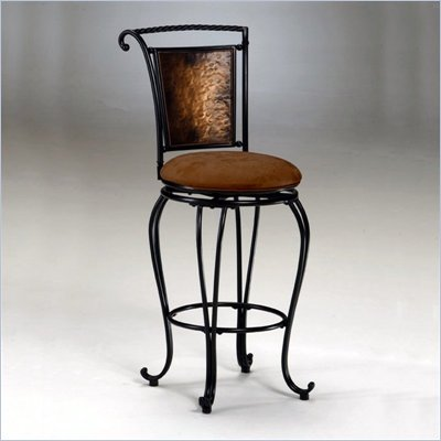 Hillsdale Milan 26&quot; Swivel Seat Counter Stool in Copper