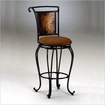 "Hillsdale Milan 26"" Swivel Seat Counter Stool in Copper"