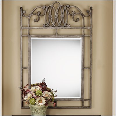 Hillsdale Montello Console Mirror in Old Steel Finish