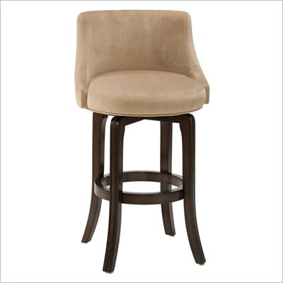 Hillsdale Napa Valley 25&quot; Swivel Counter Stool in Khaki Fabric