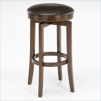 "Hillsdale O'Shea 31"" Backless Swivel Bar Stool in Brown Cherry"