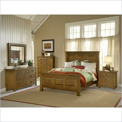 Hillsdale Outback 4 Piece Bedroom Set with Dresser in Chestnut