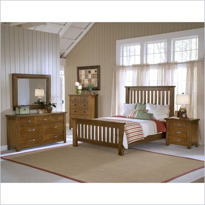 Hillsdale Outback 5 Piece Bedroom Set with Dresser in Chestnut