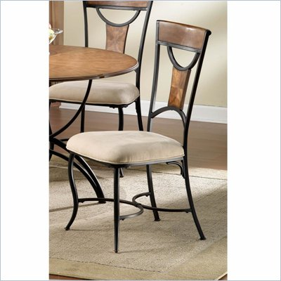 Hillsdale Pacifico Fabric Dining Side Chair in Black Finish (Set of 2)