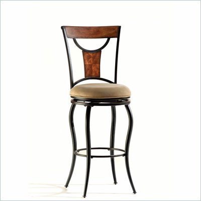 Hillsdale Pacifico Upholstered 30'' High Swivel Bar Stool